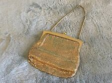Vintage Gold Metal Mesh Purse Disco Handbag by Glomesh Australia with Chain