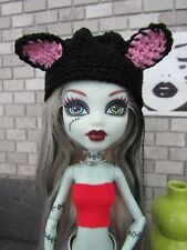 MONSTER HIGH HANDMADE CROCHET ANIMAL CAT BLACK HAT FASHION STYLE CLOTHING