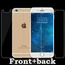 Véritable avant et arrière protecteur d'écran verre trempé pour apple iphone 6s