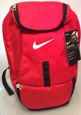 Nike Club Team Red Bag Backpack Soccer Rucksack School Football Swoosh 37 Litres
