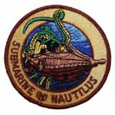 20,000 LEAGUES UNDER THE SEA SUBMARINE/NAUTILUS  EMBROIDERED IRON/SEWN ON  PATCH
