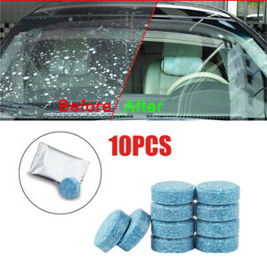 10* Auto Car Windshield Washer Cleaning Solid Effervescent Tablets Accessories
