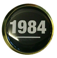 Black and White 1984 Lapel Pin Badge 25mm 1inch 10% NHS Charity Donation