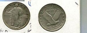 1921 P STANDING LIBERTY QUARTER TYPE COIN AU 2104P
