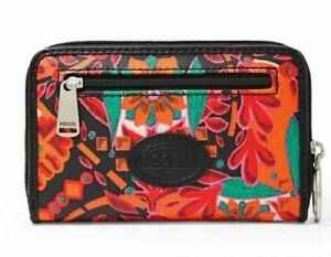 Fossil Key Per Zip Multi-function Small Wallet Coated Canvas choose your color