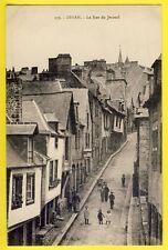 cpa Bretagne 22- DINAN (Côtes d'Armor) La rue du JERZUAL Maisons encorbellements