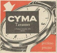 W6619 Orologio Cyma Tavannes - Pubblicità 1949 - Advertising