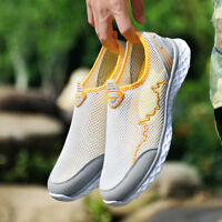 Men's Summer Breathable Water Shoes Light weight Slip On Loafers Mesh Flat Shoes