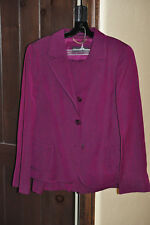 Dana Buchman Gorgeous Magenta Skirt Suit- 14