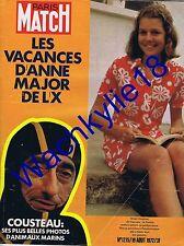 Paris Match n°1215 du 19/08/1972 Cousteau Polytechnique Fischer Spassky Échecs