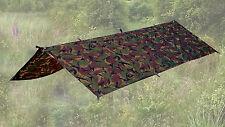 DPM Camo Basha / Tarp: Bushcraft Army Shelter Survival Bivy