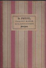 Duncan phyfe & the English regency cabinet maker 1930 slipcase hc oversize
