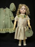 """Antique Style Doll Dress, Coat, Beret and more for 28-29"""" German Dolls - DC4"""