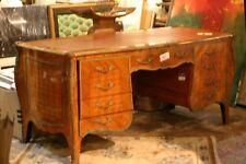 French lxv style bombay shape bronze mounts kingwood  large desk, circa 1910