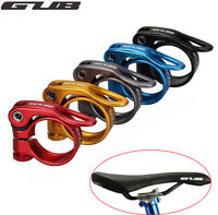 MTB Road Bike Seatpost 31.8//34.9mm Aluminium Seat Clamp Seat Post Tube Clip