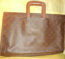 Vtg Louis Vuitton Document Case Briefcase Iconic French   Monogram