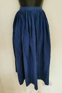 LAURA ASHLEY VINTAGE MADE IN WALES GATHERED MIDI BLUE SKIRT. UK 12