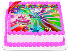 Roller Blades Disco Party Edible Icing Image Cake Decoration Birthday Topper