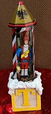 Toy T Block Christmas Decor Handmade with Vintage Schylling Toy Soldier *