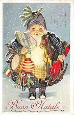 BG8386 buon natale santa toys  weihnachten christmas greetings italy