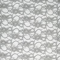 JOHN LEWIS Corded Lace Fabric -  WHITE - 140cm Wide - £5.00 per M - Free P&P