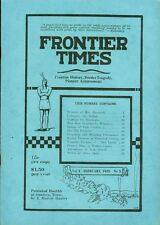 1925 Frontier Times Monthly Magazine (1974 reprint): Memoirs of Mrs. Maverick