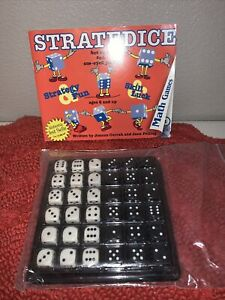 Stratedice by Joanne Currah; Jane Felling 18 Black & 18 White Dice Included 6+