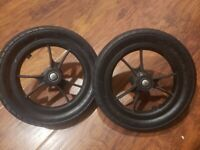 City Select by Baby Jogger Stroller Rear 2 Replacement Wheels Black USED  Parts