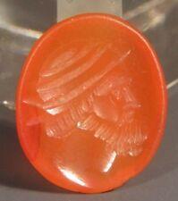 Neo Classical Carnelian Intaglio Wax Seal Stamp Wreath Crown Man 18-19th c. #11
