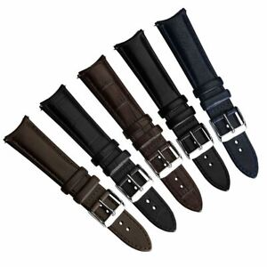 Selby Remborde Curved Ends Genuine Leather Watch Strap 20mm 22mm
