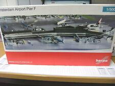 Herpa 1:500 524193 Amsterdam Airport Schiphol Pier F Building NEU OVP