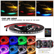 8 Color LED Strip Under Car Tube Underglow Underbody System Neon Light + Remote