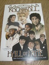 Rock & Roll Hall of Fame Induction Program 2008 Madonna Dave Clark 5 Mellencamp
