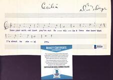 Dave Dreyer (d.1967) Autographed Hand Written Music Comp Cecilia BECKETT BAS