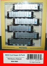 TXU Electric RD4 Coal Hoppers 6 Pack Walthers 932-7807 HO Scale JA22XP8