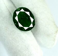 Natural Oval 7-9 Ct Colombian Emerald Loose Gemstone Birthstone AGI Certified