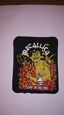 Metallica jump in the fire vintage music metal hardrock rock patch Sew On