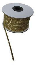Strassband Gold mit Goldenen Steinen SS12 3mm 1 Meter - Strasskette Strasssteine