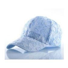 Women Summer Baseball Lace Flower Sun Breathable Mesh Snapback Hat Caps Stylish