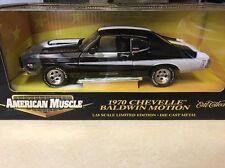 1:18 Ertl American Muscle Black White 1970 Chevelle SS 454 Baldwin Motion 32070