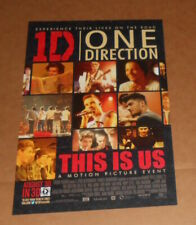 One Direction 1D This is Us Motion Picture Poster Original Promo 11x17