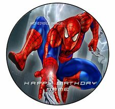 Spiderman Personalised Edible Icing Custom Party Cake Decoration Topper Image