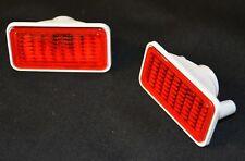 1968-69 GM Side Marker Lens Pair Quarter / Fender Light Assembly Red Camaro