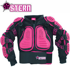KIDS STERN MOTOCROSS BODY ARMOUR PROTECTION PINK bionic suit jacket girls quad