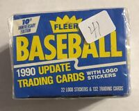 """1990 FLEER UPDATE SET (MINT) 132 CARDS WITH """"ROOKIE"""" BASEBALL CARDS - R/C  #41"""