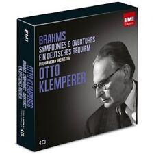 KLEMPERER/POL - SINFONIEN,DEUTSCHES REQUIEM 4 CD KLASSIK ORCHESTER NEU BRAHMS