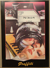 (PRL) NIKON F CAMERA GRAFFITI RARE VINTAGE AFFICHE PRINT ART POSTER COLLECTION