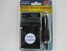 CANON NB-8L DC98 Battery Wall & Car Charger by Digital Sunflash - Black