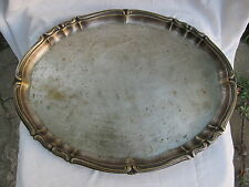 OLD VINTAGE RARE BEAUTIFUL SERVING TRAY SIGNED MUSSBACH GERMANY BRASS OR COPPER