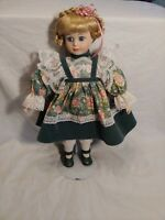 Vintage 16 Inch Porcelain Doll With Stand